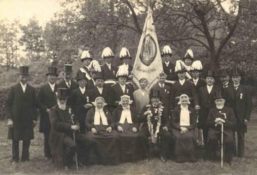 Vorstand, Offiziere und Throngemeinschaft im Jubiläumsjahr 1929