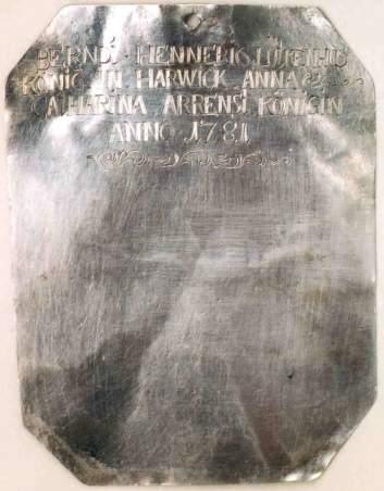 Plaketten - Rückseite