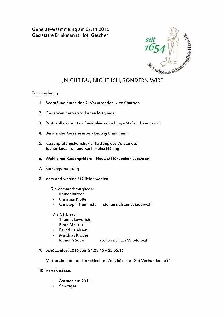 Tagesordnung 2015